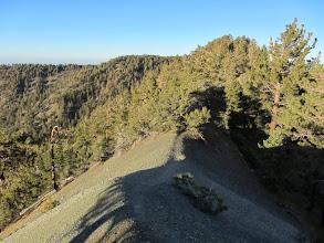 Photo: Approaching a backbone with a view north toward Blue Ridge on North Backbone Trail