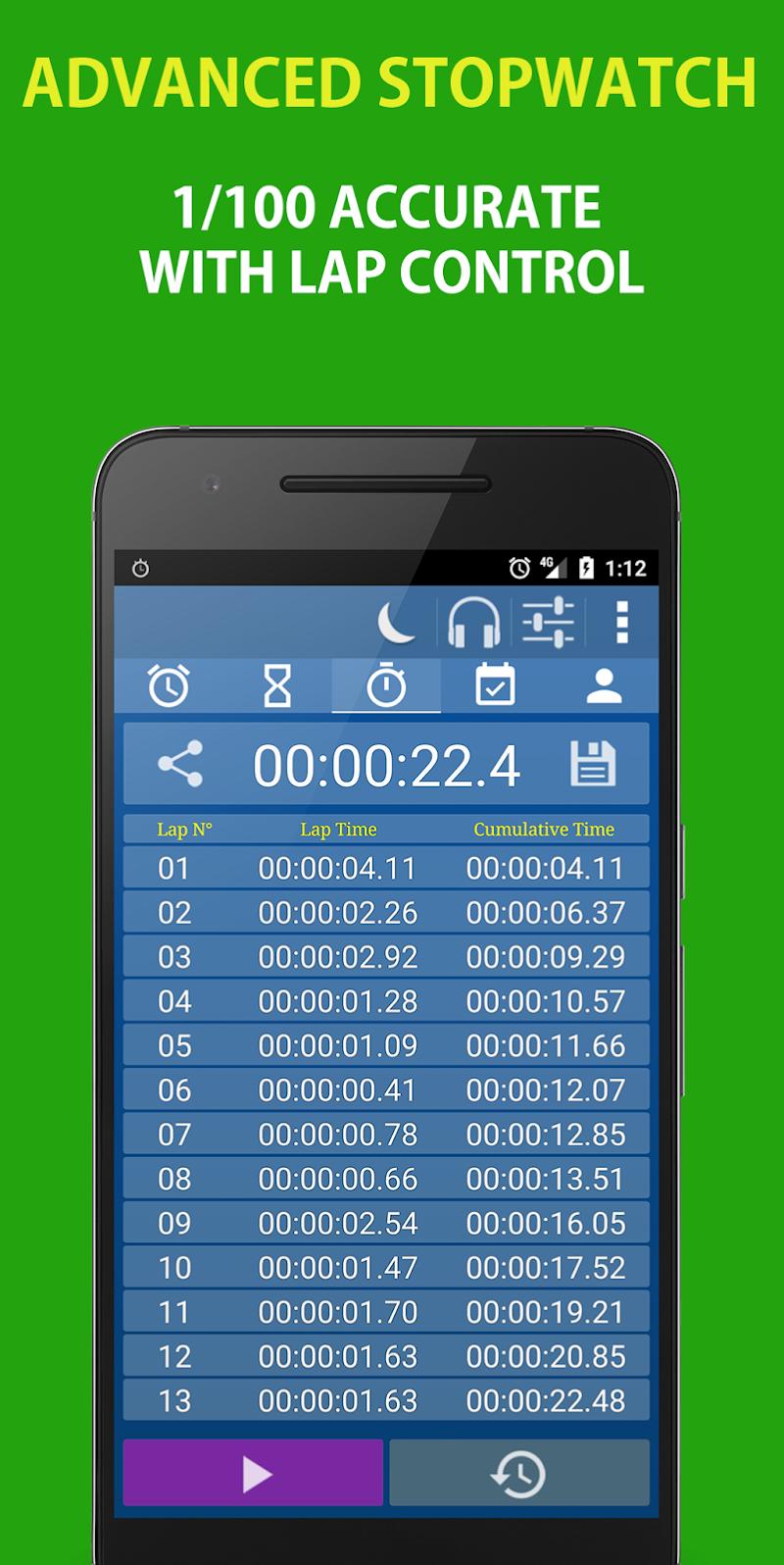 Alarm Clock & Timer & Stopwatch & Tasks & Contacts Screenshot 2