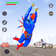 App Flying Robot Rope Hero - Vegas Crime City Gangster APK for Windows Phone