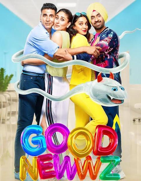 Akshay Kumar, Kareena Kapoor, Kiara Advani & Diljit Dosanjh in movie Good Newwz (2019)
