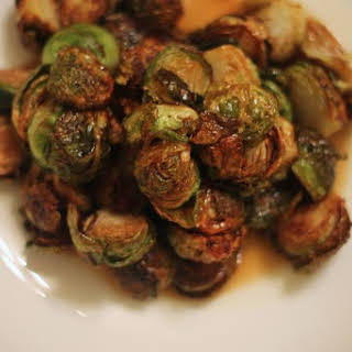 Fried Brussels Sprouts with Apple Gastrique.
