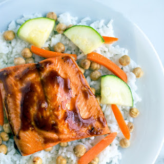 Salmon Teriyaki Stir Fry Bowls