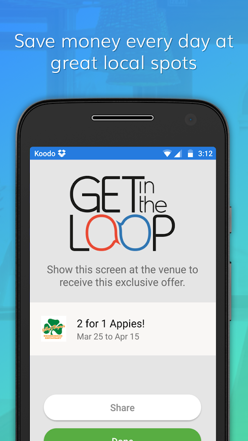 Get in the Loop - Local Deals- screenshot