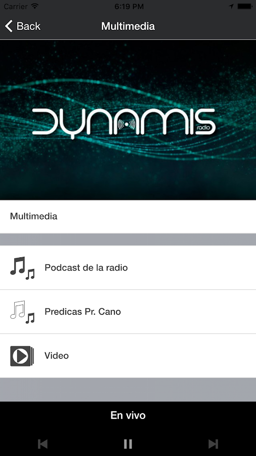 Dynamis Radio- screenshot