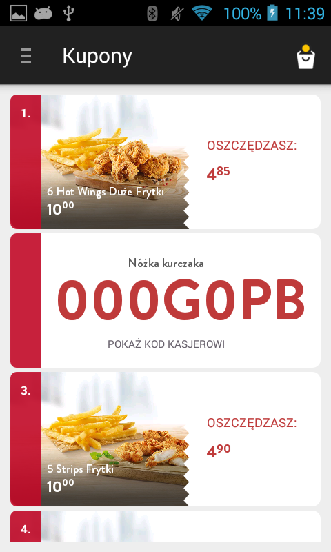 KFC Polska- screenshot