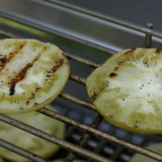Grilled Green Tomato Slices.