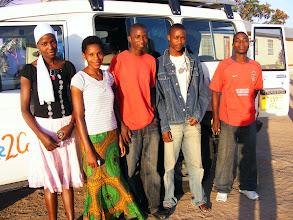 Photo: Eva, Rehema, Frank, Labani and Mwita finally leave Bethany for their new jobs