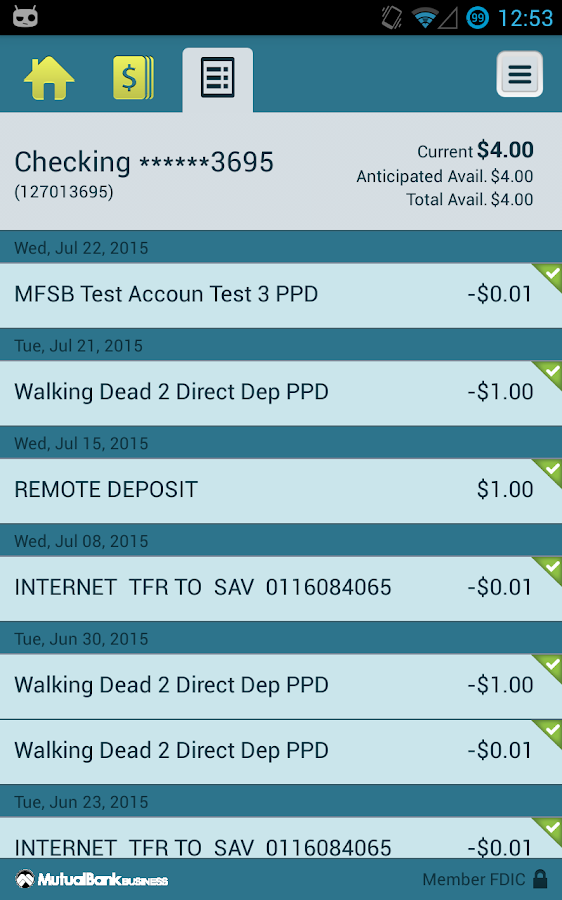 MutualBank Business- screenshot