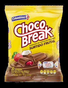 CHOCOLATE CHOCO BREAK   FRUTALES X150G.X30UND.