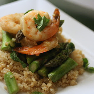 Ginger Roasted Shrimp with Asparagus