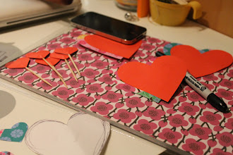Photo: Crafting for Valentine's Day