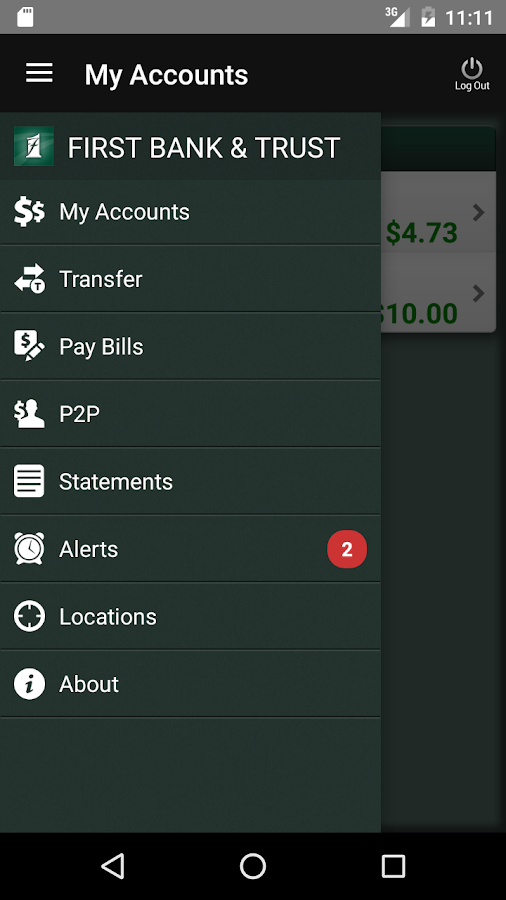 FB&T Mobile Banking- screenshot