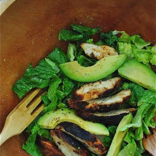 Blackened Chicken Caesar Salads with Avocado