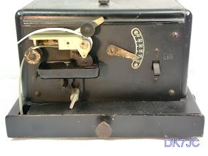 """Photo: Morse-Schreiber MS2 mit Geschwindigkeits-Regler  Werk-Nr.32701 Anf.Z. Fl 25240   -Charlottenburger Motoren-Ges.mbH-  Bj.:ca 1940   """"DL""""  # 659"""