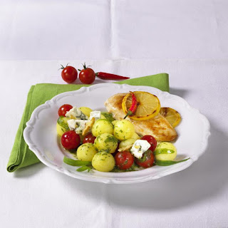 Chicken Breasts with Potato Salad