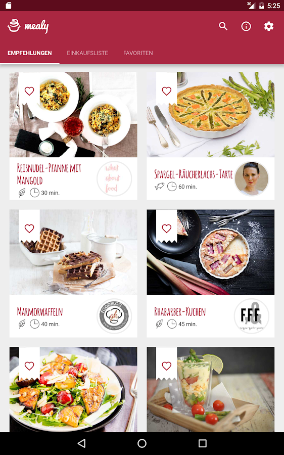 mealy - Food-Blogger-Rezepte- screenshot