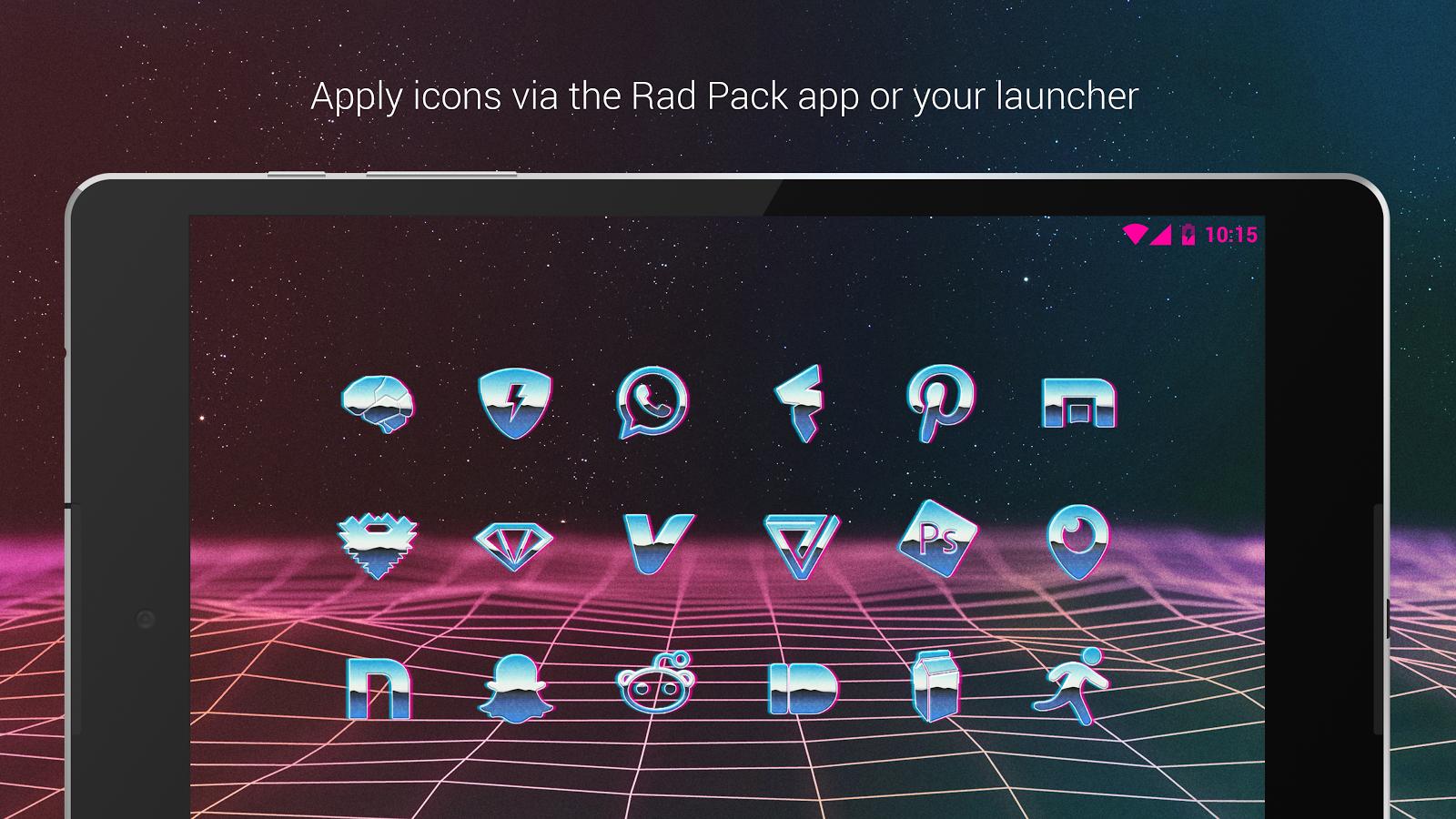 Google themes aesthetic - Rad Pack Free 80 S Theme Screenshot