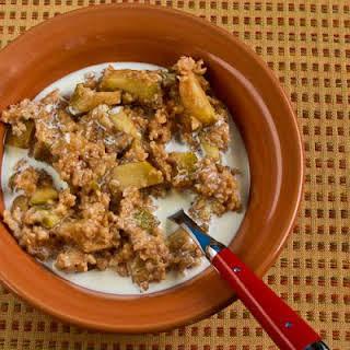CrockPot Make-Ahead Apple Pie Oatmeal.