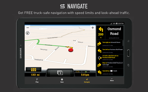 My ONE20 - Truck Safe GPS Screenshot