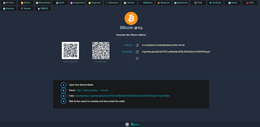 Paper Wallet Generator for Bitcoin & Altcoins