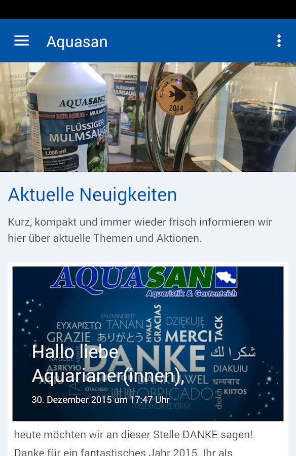 Aquasan-Aquaristik- screenshot