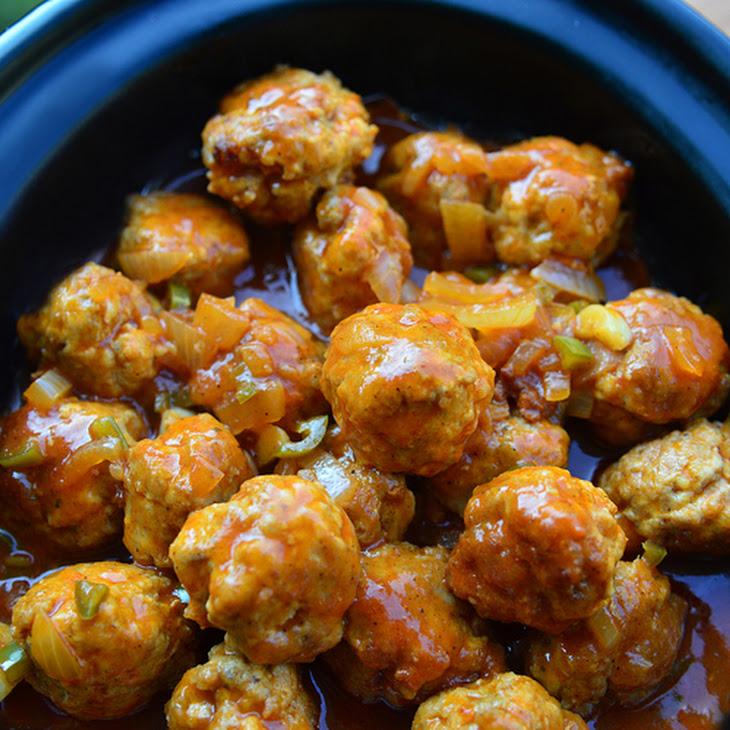 Slow Cooker Buffalo Chicken Meatballs