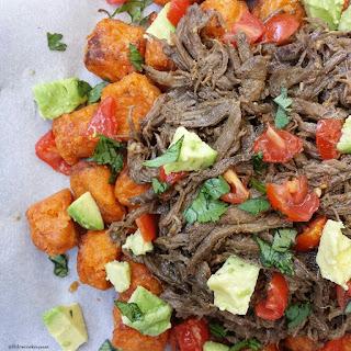 Crock-Pot Carne Asada Sweet Potato Tots.