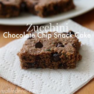 Zucchini Chocolate Chip Snack Cake