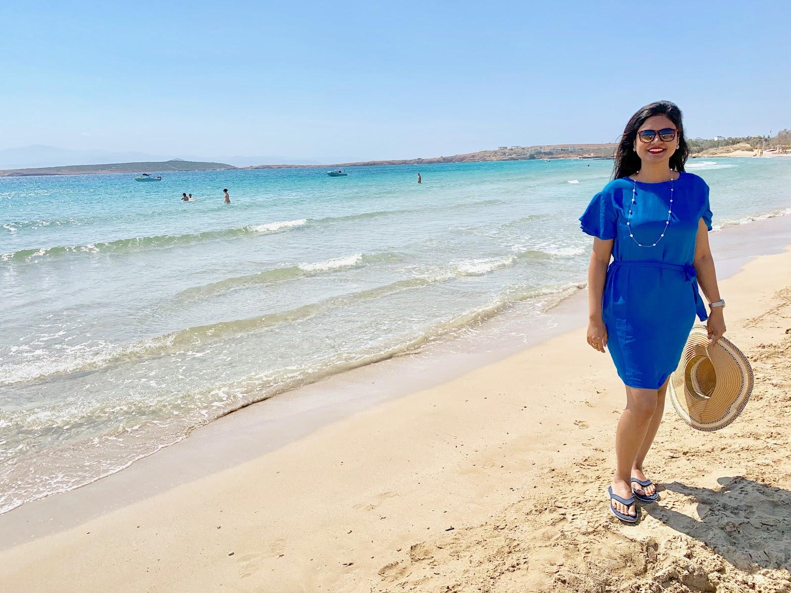 Santa Maria beach Paros - Best beaches in Paros. How to visit Paros. 2 days in Paros