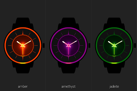 Analog Glow Watch Face