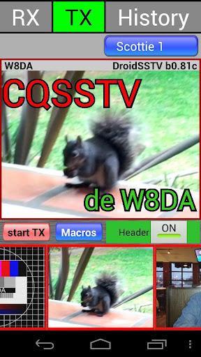 DroidSSTV - SSTV for Ham Radio screenshot 2