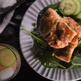 Salmon Wellington with Spinach & Boursin.