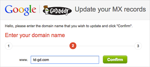 Enter your domain name.