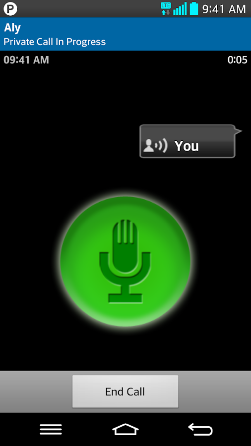 Bell Push-to-talk - screenshot