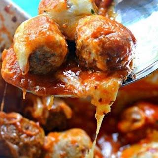 Meatball Parmesan Casserole.