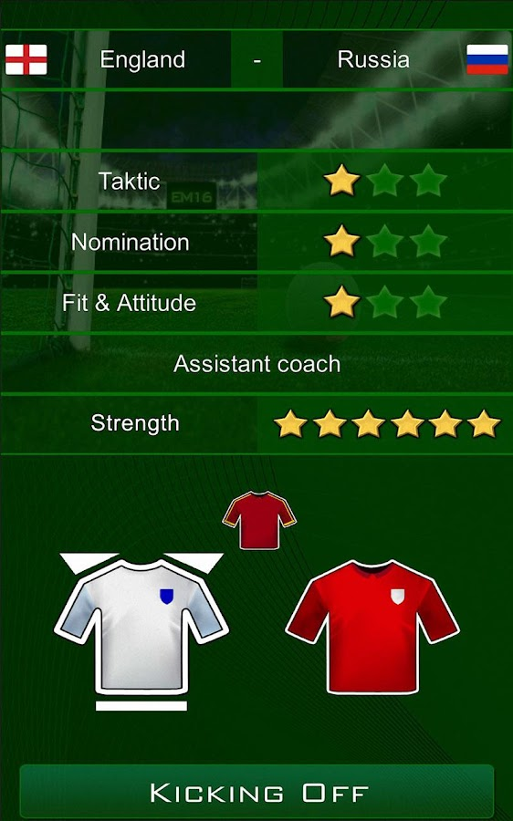 Euro 2016 Manager Free- screenshot