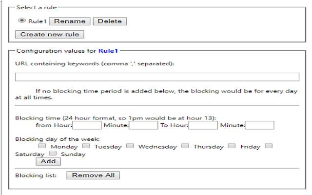Time based URL blocking
