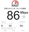 インターネットスピード結果