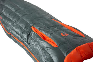 NEMO Riff 15 Men's Sleeping Bag - 800 Fill, Long, Ember Red/Deep Water alternate image 2