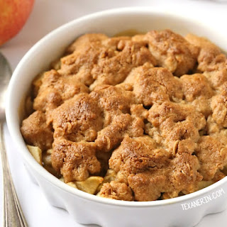 Peanut Butter Apple Crumble (gluten-free, vegan, dairy-free, 100% whole grain)