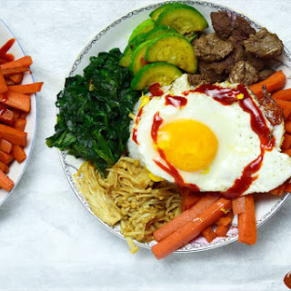 Bibimbap {Korean Mixed Rice with Vegetables}