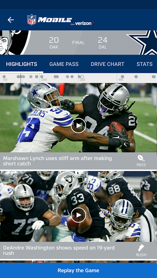 Screenshots of NFL Mobile for iPhone