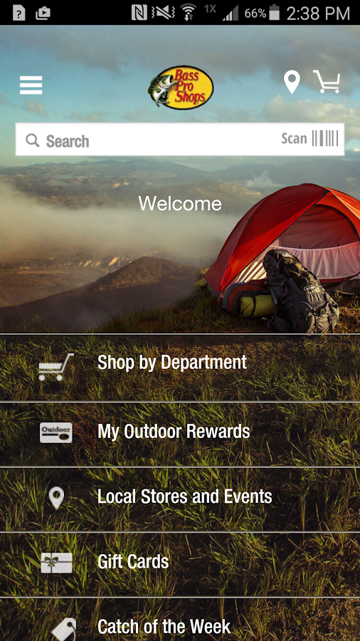 Bass Pro Shops- screenshot