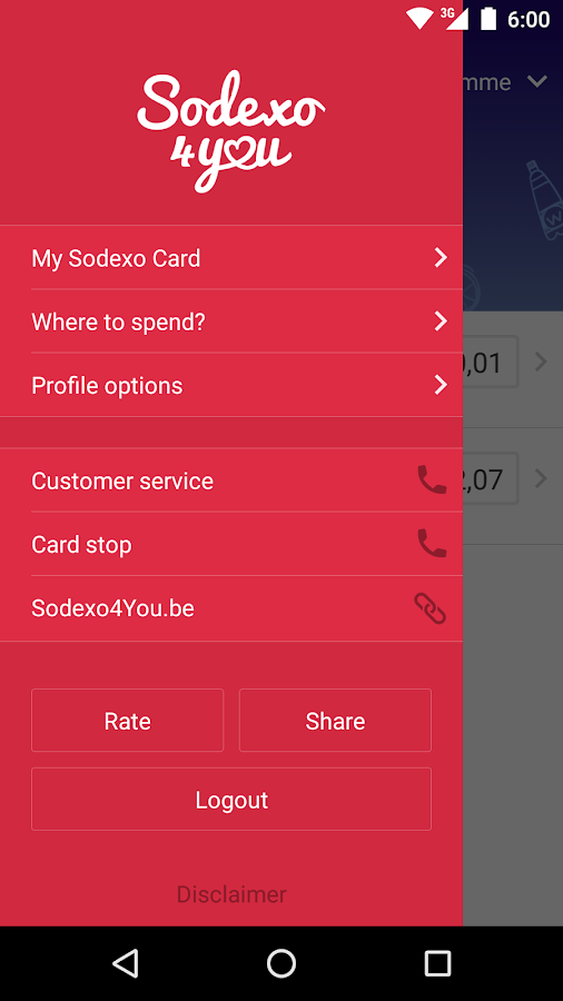 Sodexo4You- screenshot