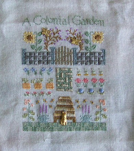 Photo: Completed 3 June 2010. Elizabeth Designs 2010 Garden Sampler from Stitching Friends Retreat 2010.