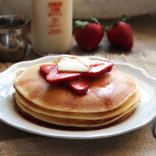 Ricotta Pancakes with Strawberry Maple Syrup Recipe