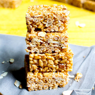 Toasted Coconut Almond Rice Crispy Treats (Vegan, Gluten Free, Dairy Free)