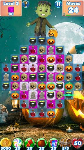 Halloween Games 2 - fun puzzle games match 3 games screenshots 2