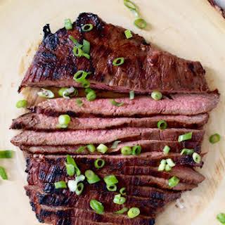 Soy Sauce & Honey Marinated Flank Steak..