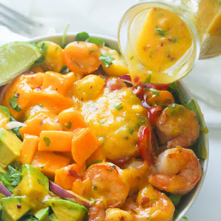 Mango Avocado Shrimp Salad & Mango Dressing